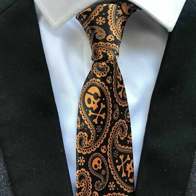 Men Necktie Unique Designer Fashion Printed Ties Skull Pattern Polyester Tie