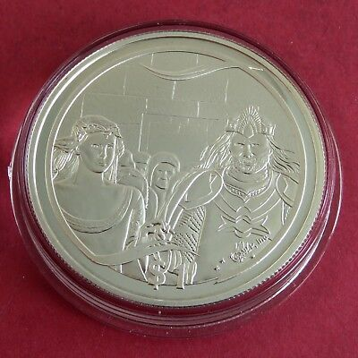 New Zealand 2003 Aragorns Coronation Lord Of The Rings $1 Silver Proof