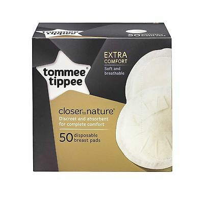 BNIB 50 Tommee Tippee Disposable Discreet Absorbent baby breast feeding Pads