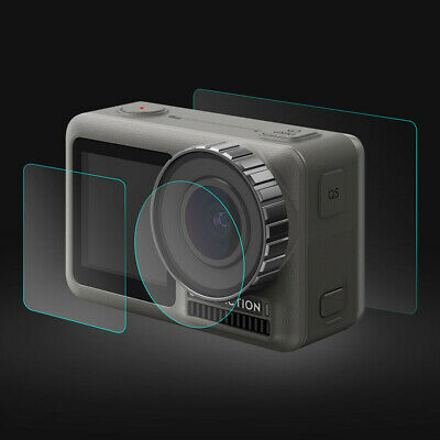 3Set Tempered Glass Film Dual Screen + Lens Protector For DJI OSMO Action Camera