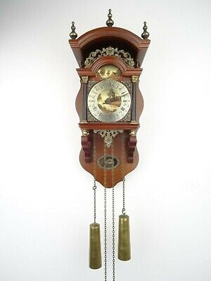 Dutch Sallander Vintage Antique Wall Clock 8 day (Friesian Wuba Warmink era)