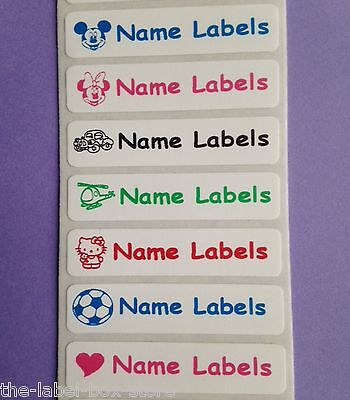 25 Iron on Clothes School Children Kids Name Labels Tapes Tags