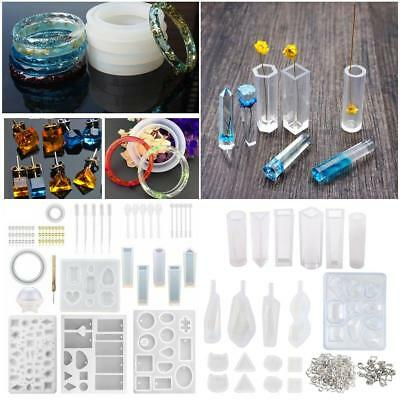 DIY 3D Crystal Silicone Mold Jewelry Pendant Molds Epoxy Resin Jewelry Maker