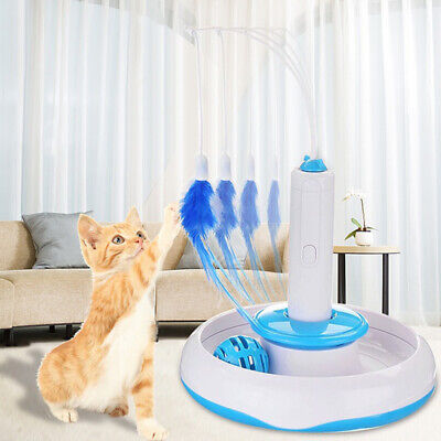 2019 Feather Teaser Cat Toys Pet Rotating Entertainment Multifunction Funny
