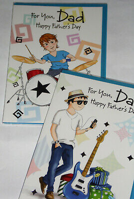 LESS40% !! FATHER'S DAY DAD CARDS X 12, JUST 17p, foiled,  wrapped  ( A459