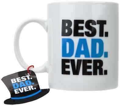 BEST DAD EVER MUG 11oz, x 6, just £2.49, EXCEPTIONAL QUALITY! (DG22