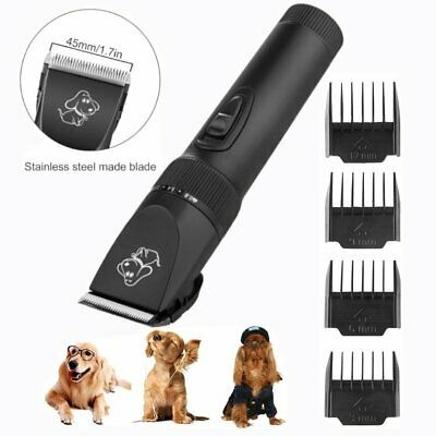 Professional Pet Cat Dog Hair Clipper Trimmer Shaver Cordless Rechargeable TO