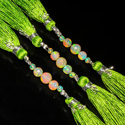 AA+ Natural Ethiopian Opal Rounds Loose Beads Strands 2.15cts Mini Strand 3-5mm