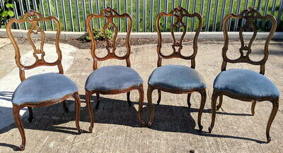 French Louis XV Style  Carved  set of 4 chairs