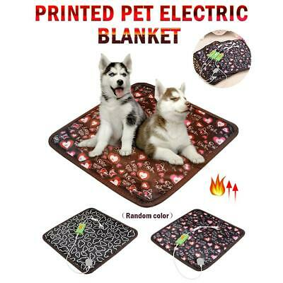 220V 20W Pet Electric Heat Heated Heating Pad Mat Blanket Bed Dog Cat Bunny