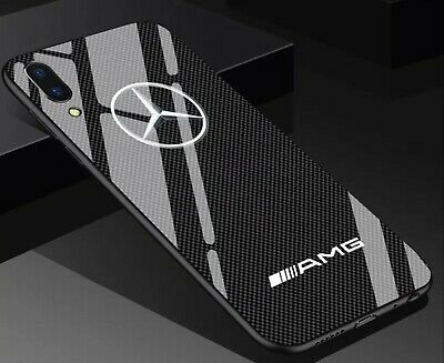 iPhone Mercedes AMG Tempered Glass Phone Case Cover ALL MODELS UK