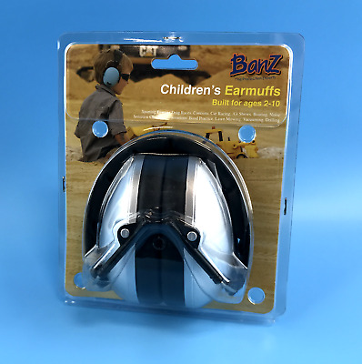 Banz The Protection Expert Children's  Earmuffs - Silver (Built for Ages 2-10)