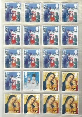 Gb 20  2Nd Class Unfranked Stamps