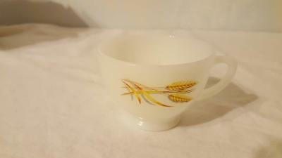 Vintage Anchor Hocking Milk Glass Golden Wheat Tea Cup Replacement For Snack Set