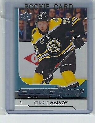 2017-18 Upper Deck Series 1 Rookie Young Guns 242 Charlie McAvoy