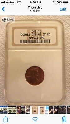1995-P Lincoln Cent, Double Die, NGC MS 67 Red