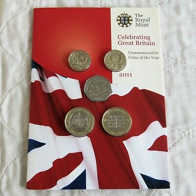 2011 ROYAL MINT UK BRILLIANT UNCIRCULATED 13 COIN SET - sealed pack