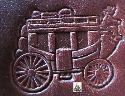 """Craftool Co. USA Western Horse Drawn Carriage Stagecoach 1"""" Leather Stamp 8481"""