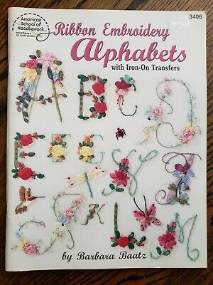 Barbara Baatz Ribbon Embroidery Alphabets Book with Iron-On Transfers