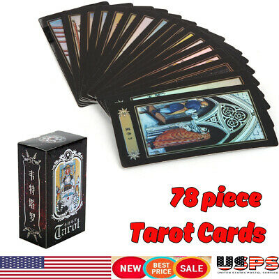 Waite Rider Tarot Deck Vintage 78 Cards Set w/Colorful Box Future Telling Game