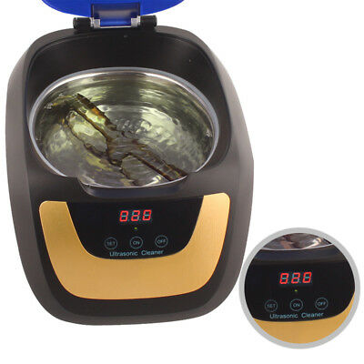 750ml Household Digital Ultrasonic Cleaner Touch Panel Cleaning Device Clinic CE