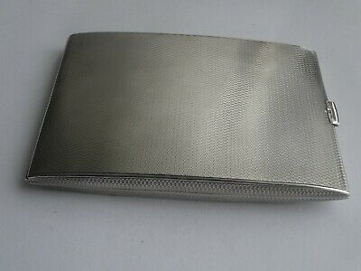 VERY GOOD HEAVY ENGLISH STERLING SILVER CIGARETTE/CARD CASE, HALLMARKED c1922