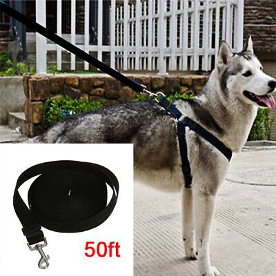 15M Extra Long Strong Pet Dog Training Rope Lead Leash for Medium Large Dogs UK