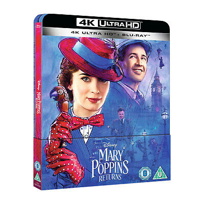 [Blu-ray] MARY POPPINS RETURNS (Steelbook Zavvi 4K+Blu-ray VF+VOSTF, comme neuf)