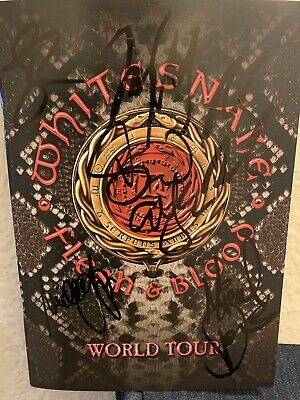 Whitesnake 2019 Tour  Signed X6 Program Tour Book David Coverdale / Deep Purple
