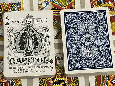 Antique Capitol No. 188 playing cards c1895 - USPC Russell Morgan USPCC Vintage