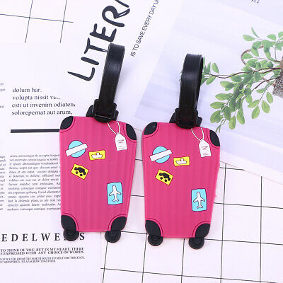 2PCS Simple Cute Luggage Tags Travel Accessories for School Bag Suitcase Handbag