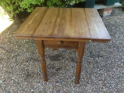 Victorian Farmhouse Pine Kitchen Drop Leaf Table