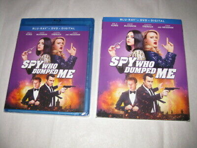 THE SPY WHO DUMPED ME Mila Kunis Blu Ray + DVD + Digital with Slipcover NEW