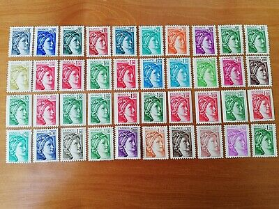 France : Lot 40 Timbres Neufs ** - Type Sabine - (An123)