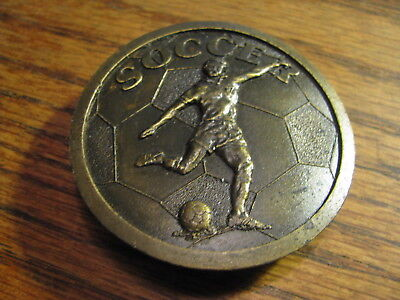 Soccer  Belt Buckle  1978 by Indiana Metal Craft    Box #NB
