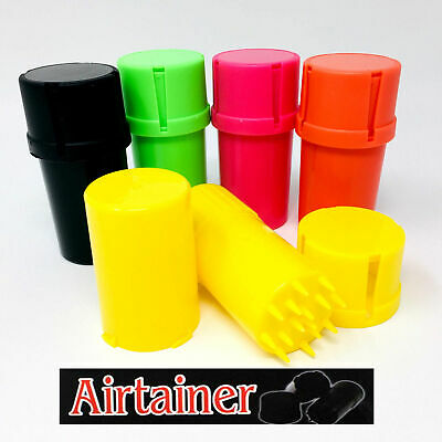 Dry Herb Grinder Smell Proof Stash Crusher Pot Plastic Rolling Air Tight Mill