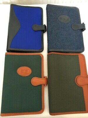 FILOFAX-4 x LONDON ORGANISER Co LEATHER & FABRIC PERSONAL SIZE-KOLOMAN RINGS