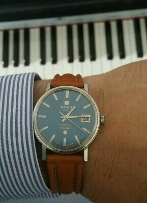 Vintage Tissot Seastar Automatic Rare BLUE DIAL Immaculate, Perfectly Working