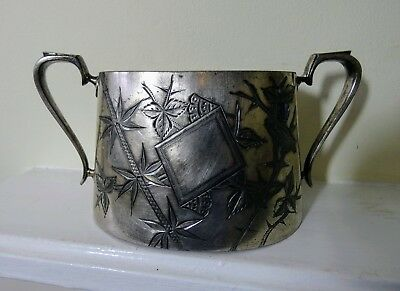 Walker & Hall Silver Plated Double Handled Sugar Bowl