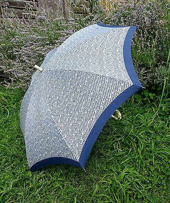 Vintage Pierre Cardin Navy & White Umbrella