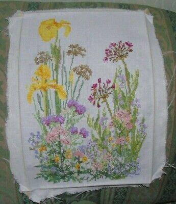 Cross stitch Completed -  flowers