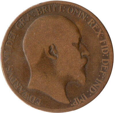 1906 Half Penny Of Edward Vii. / Collectible Coin    #Wt2571
