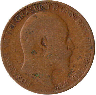 1906 Half Penny Of Edward Vii. / Collectible Coin    #Wt2573