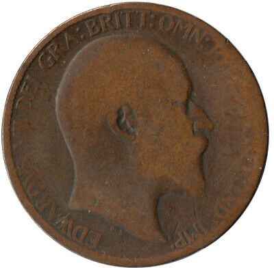 1907 Half Penny Of Edward Vii. / Collectible Coin    #Wt2574