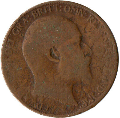 1907 Half Penny Of Edward Vii. / Collectible Coin    #Wt2575