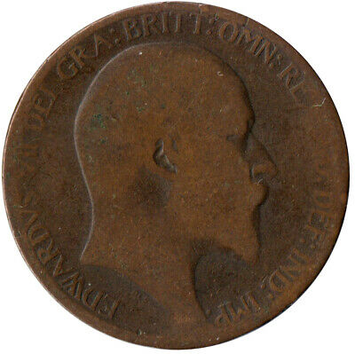 1907 Half Penny Of Edward Vii. / Collectible Coin    #Wt2578
