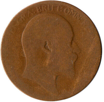 1906 Half Penny Of Edward Vii. / Collectible Coin    #Wt2581