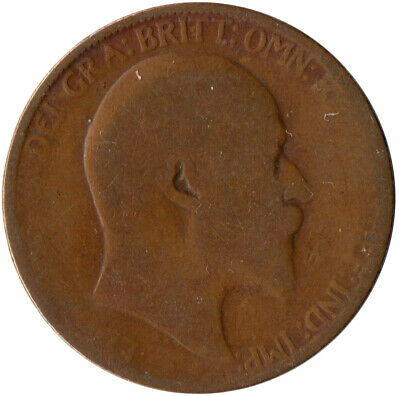 1907 Half Penny Of Edward Vii. / Collectible Coin    #Wt2585