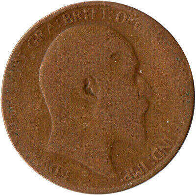 1906 Half Penny Of Edward Vii. / Collectible Coin    #Wt2590