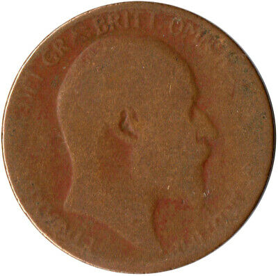 1906 Half Penny Of Edward Vii. / Collectible Coin    #Wt2598